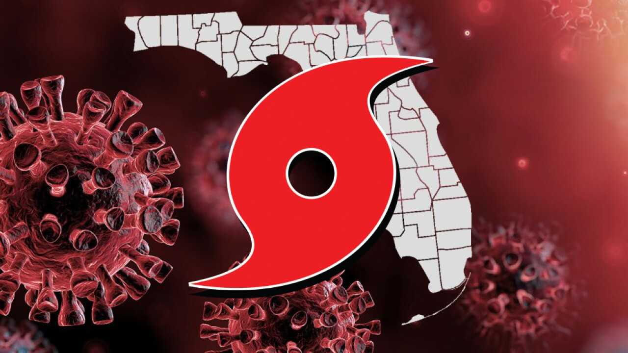 Florida coronavirus hurricane graphic