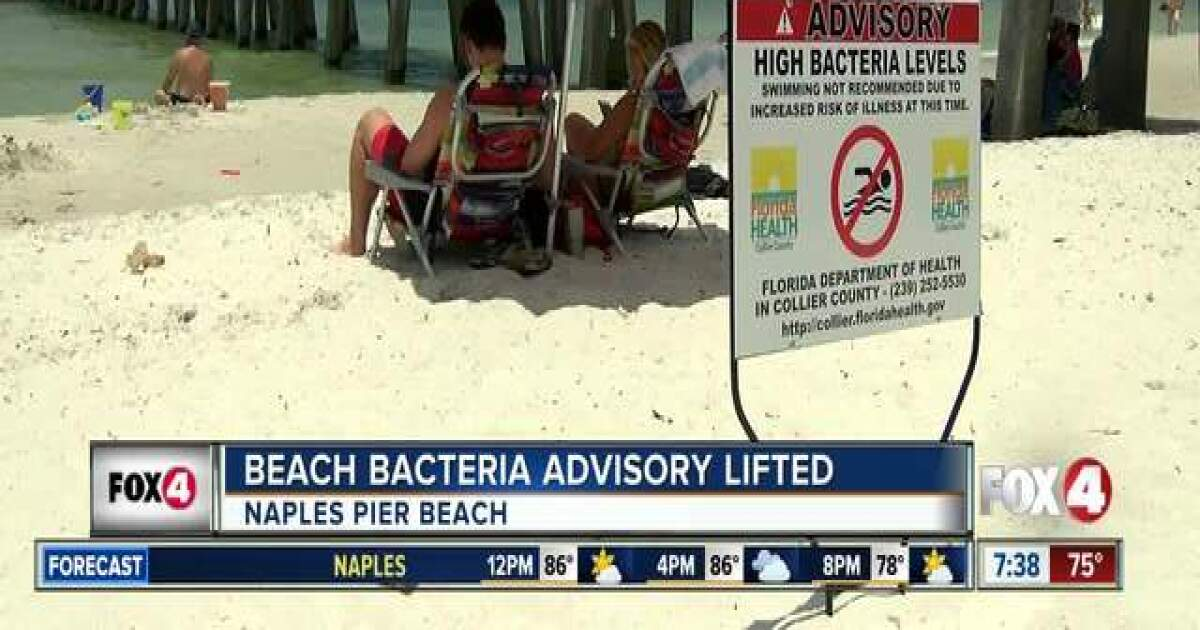 State Department of Health lifts advisory for beach near