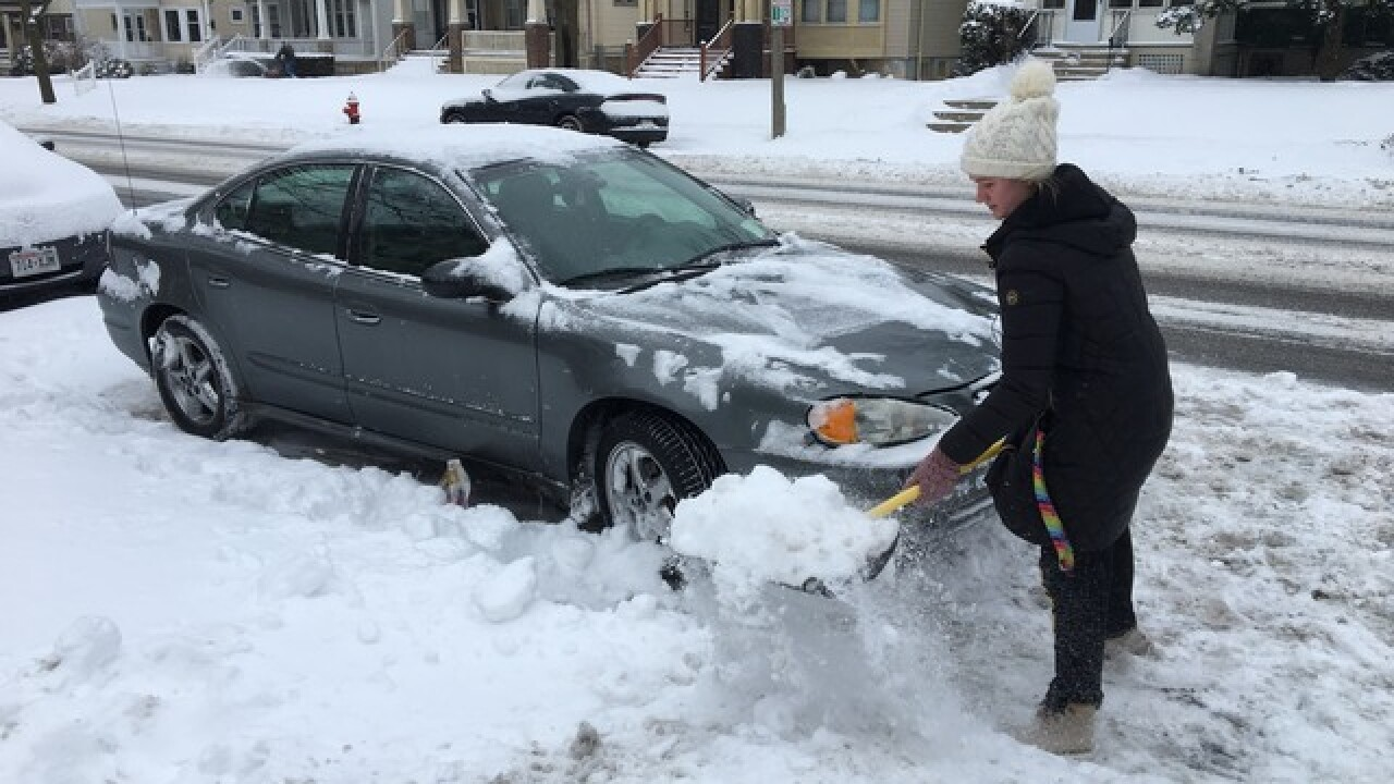 Snowstorm to create poor driving conditions.