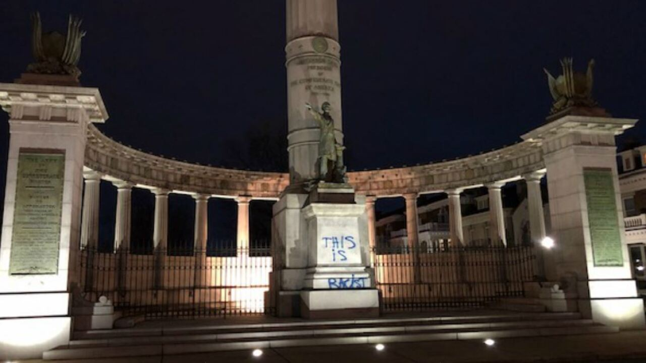 Someone spray painted Confederate monuments inRichmond