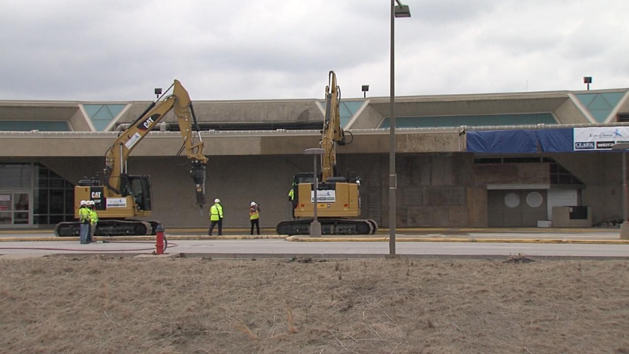Demolition begins at Terminal A
