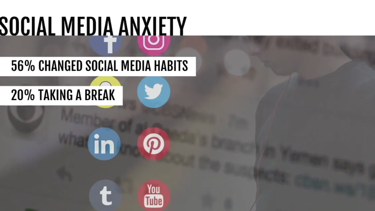 Experts suggest setting limits on social media to help ease anxiety