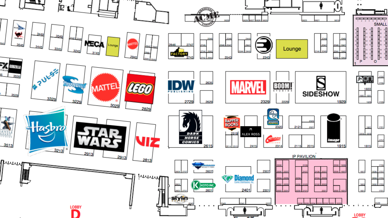 MAP: Where to find your favorite San Diego Comic-Con exhibit