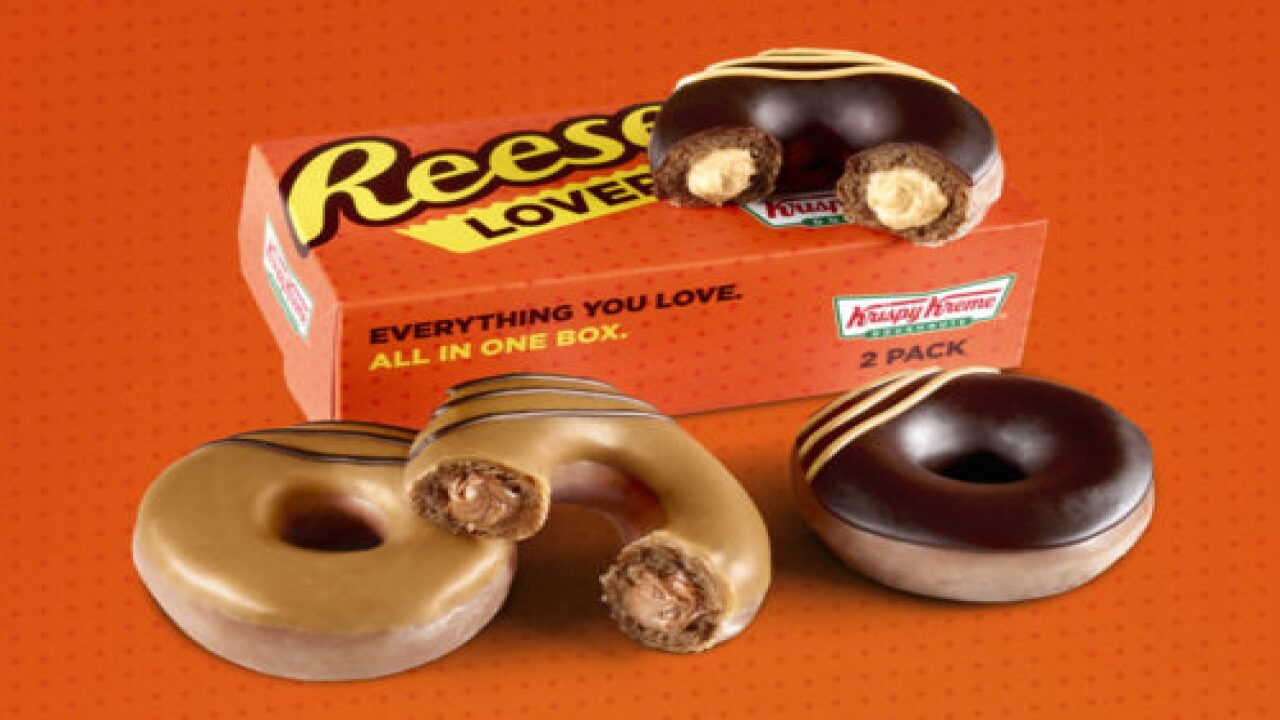 Krispy Kreme's New Reese's Lovers Doughnuts Are Filled With Peanut Butter Or Chocolate Cream