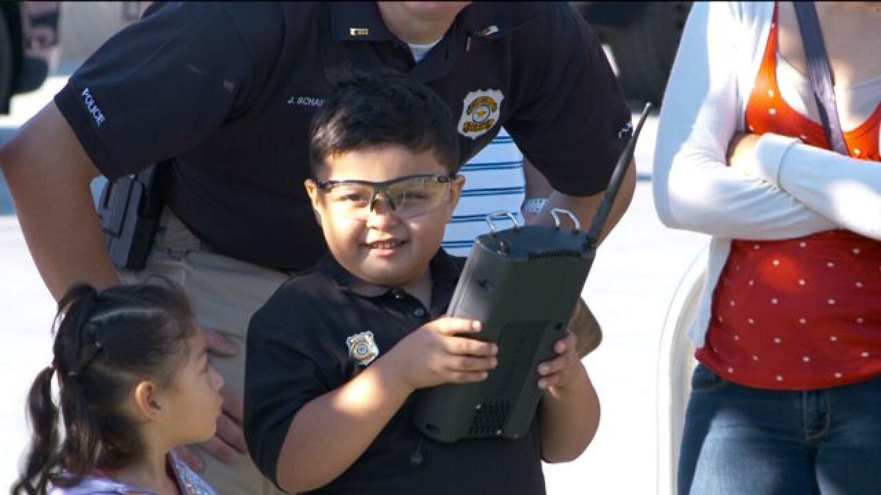 5-year-old facing leukemia spends the day as an honorary police officer