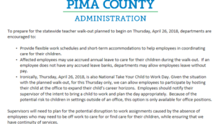 AZ Teacher Walkout: Impact on Pima County workers