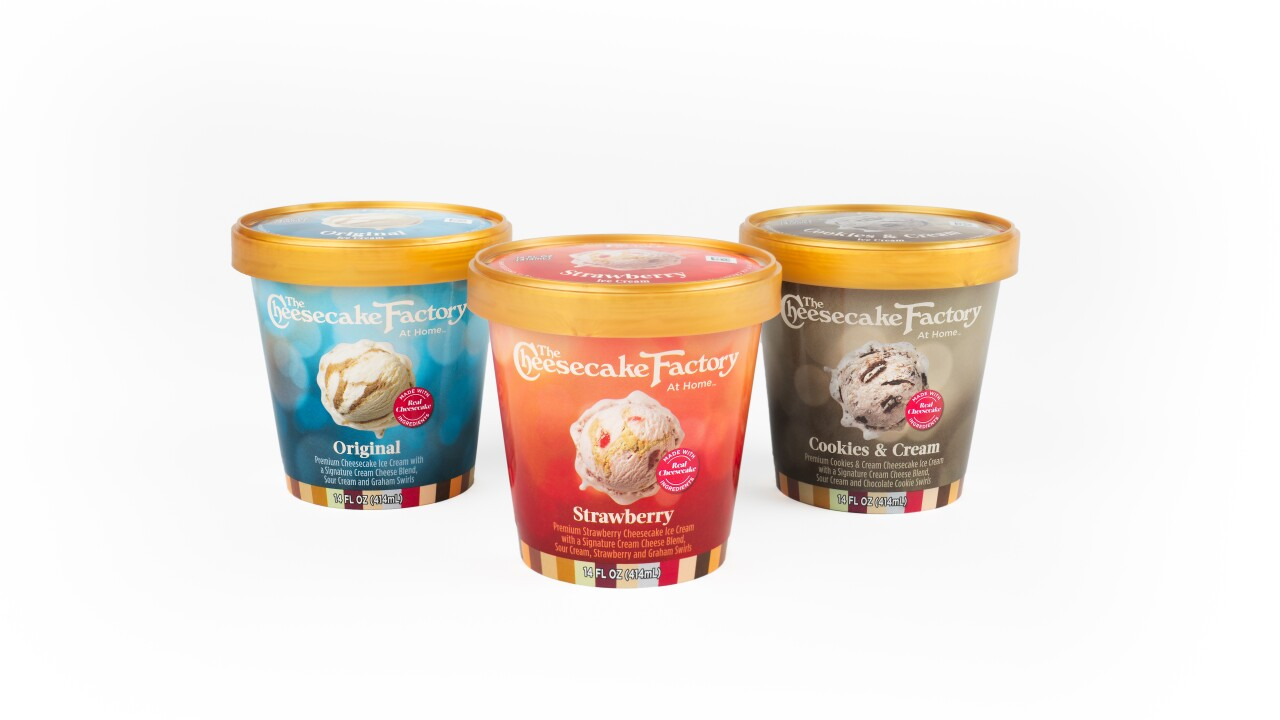 The Cheesecake Factory launches line of ice cream flavors