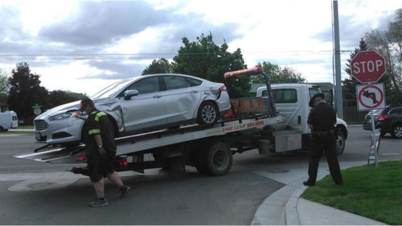 Idaho State Police stop vehicle after pursuit