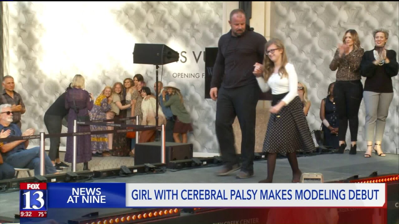 Utah girl with cerebral palsy lives out dream of being amodel