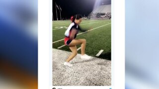 Invisible box challenge: Texas high school cheerleader's 'walk on air' goes viral on internet