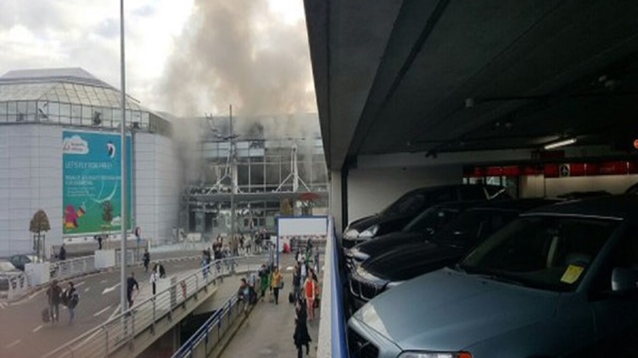 Casualties after blasts rock Brussels airport