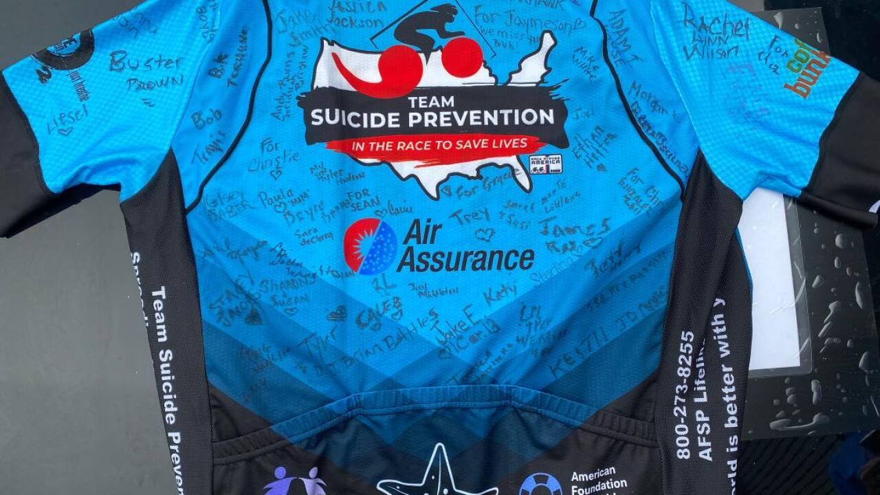 Team Suicide Prevention jersey