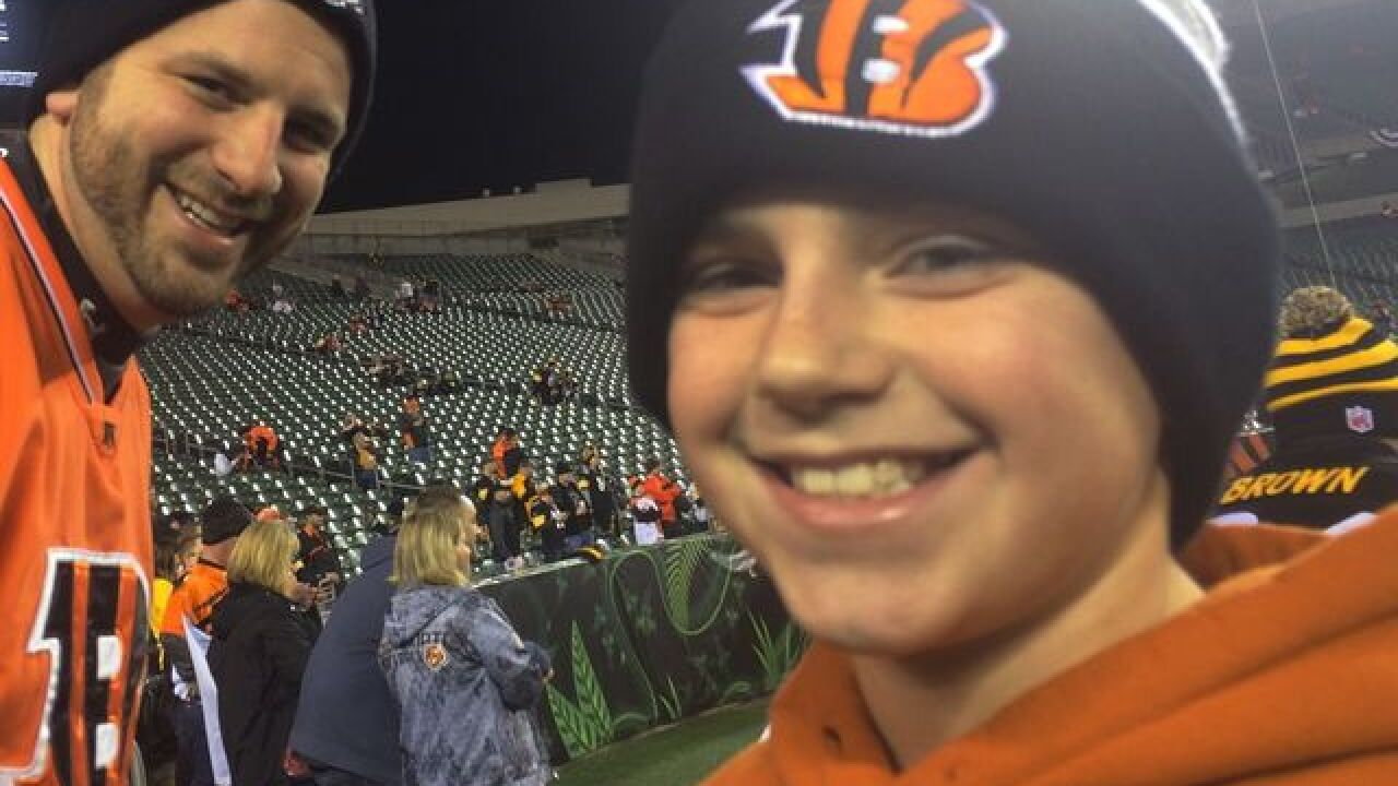 11-year-old hit by beer bottle at Bengals game