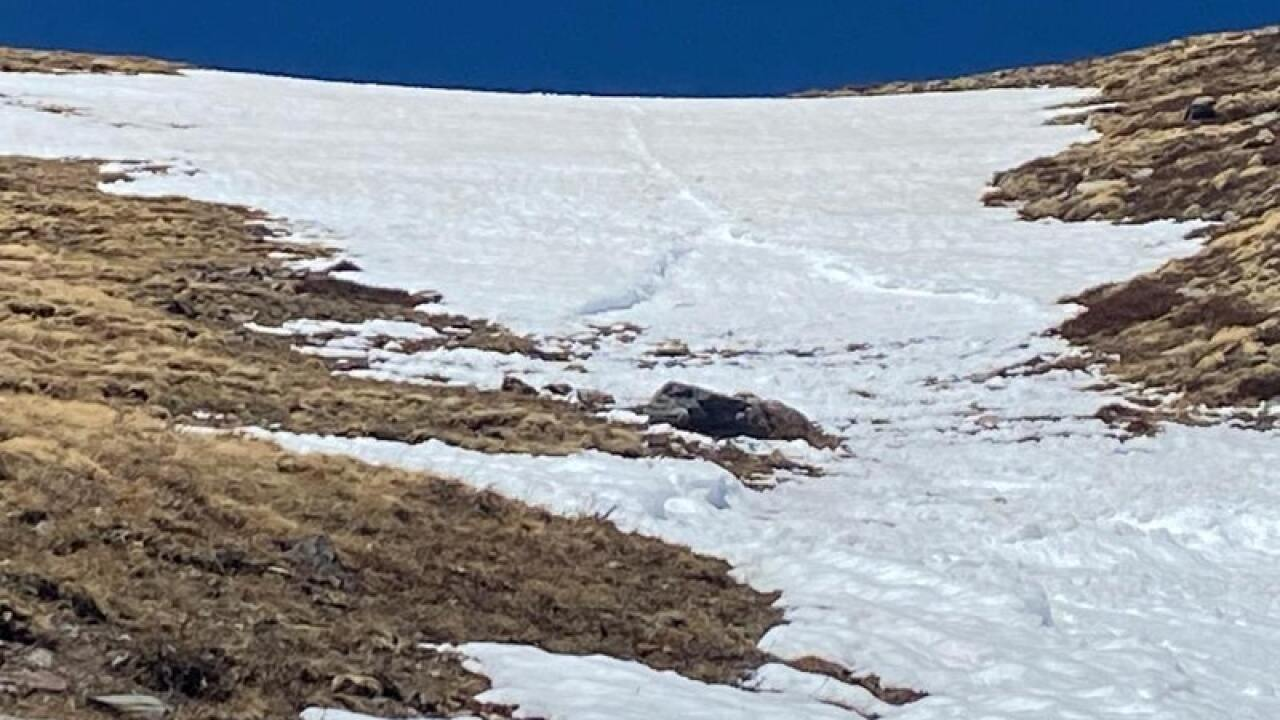 May 2 2020 avalanche on Horn Peak