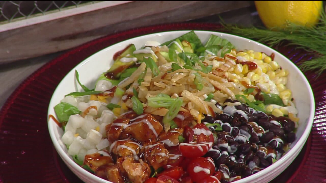 Savory BBQ chickensalad