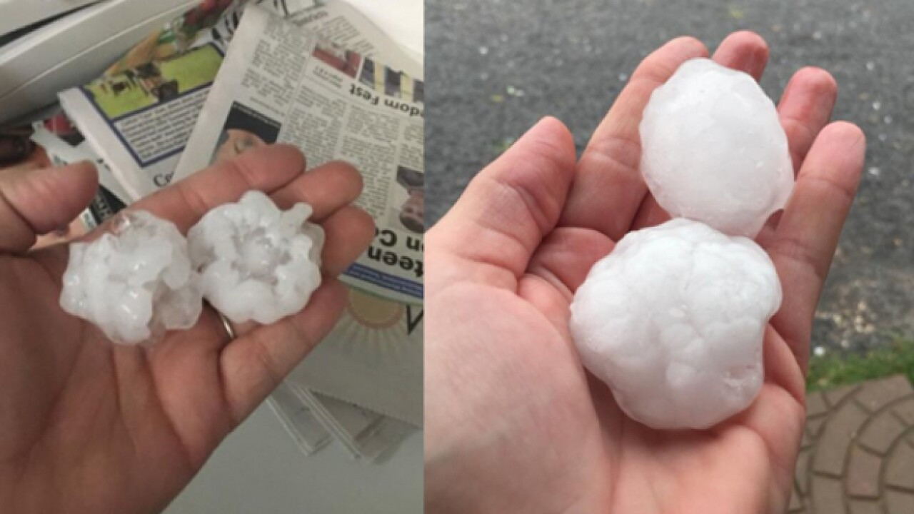 Severe Storms Bring Hail, Damaging Winds To The Mid-State
