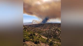 Planes collide battling wildfire near Caliente, Nevada