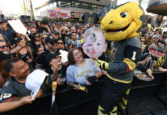 Photos: Vegas Golden Knights celebrate fans with Stick Salute