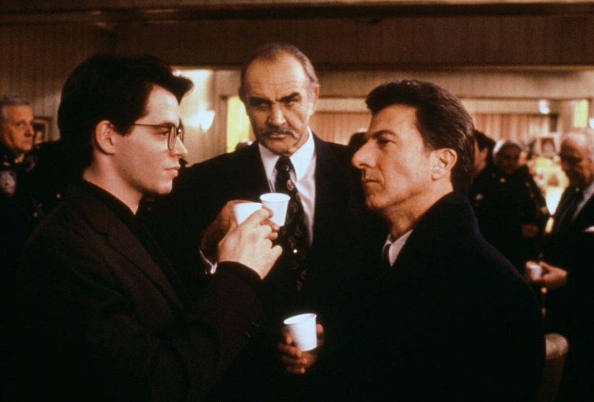 Matthew Broderick, Sean Connery and Dustin Hoffman in 'Family Business'
