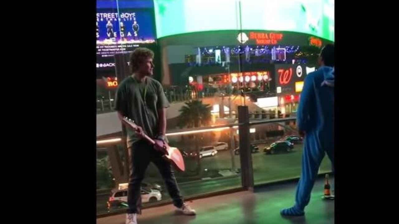 WATCH: Man dressed as Eeyore body slams musician on Las Vegas Strip