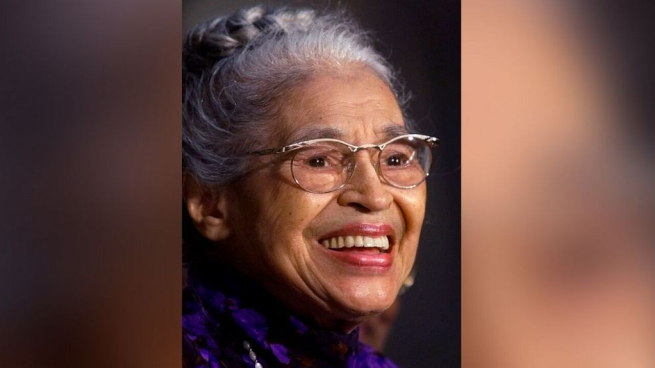 In a June 15, 1999 file photo Rosa Parks smiles during a Capitol Hill ceremony where Parks was honored with the Congressional Gold Medal in Washington. A new statue of civil rights pioneer Rosa Parks will be unveiled in downtown Montgomery, Ala., on Sunday, Dec. 1, 2019.In a June 15, 1999 file photo Rosa Parks smiles during a Capitol Hill ceremony where Parks was honored with the Congressional Gold Medal in Washington. A new statue of civil rights pioneer Rosa Parks will be unveiled in downtown Montgomery, Ala., on Sunday, Dec. 1, 2019. Khue Bui/AP Photo