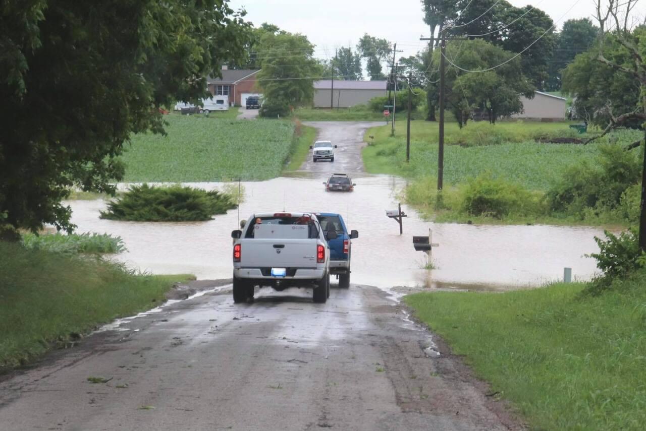 Jones Road, just south of School House Road in Owen County