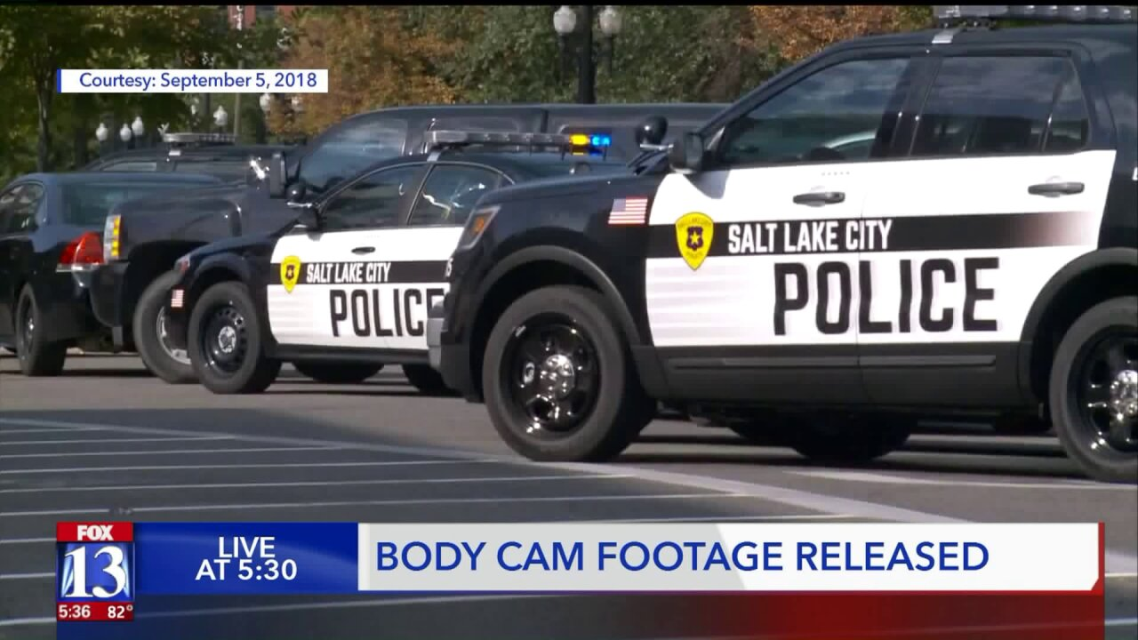 Police release body cam footage from foot pursuit that led to fugitive killing himself in downtownSLC