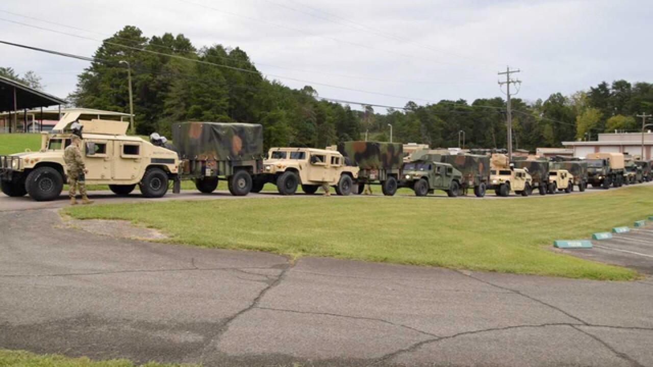 Tennessee National Guard Sends Military Police Company To South Carolina