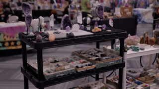 Crystals on display at the Psychic and Holistic Expo