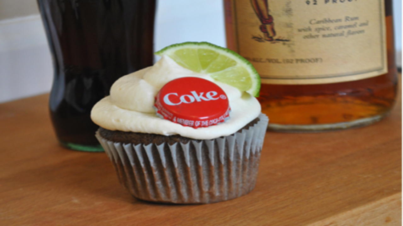 With Rum & Coke Cupcakes, You Can Have Your Cake And Drink It, Too