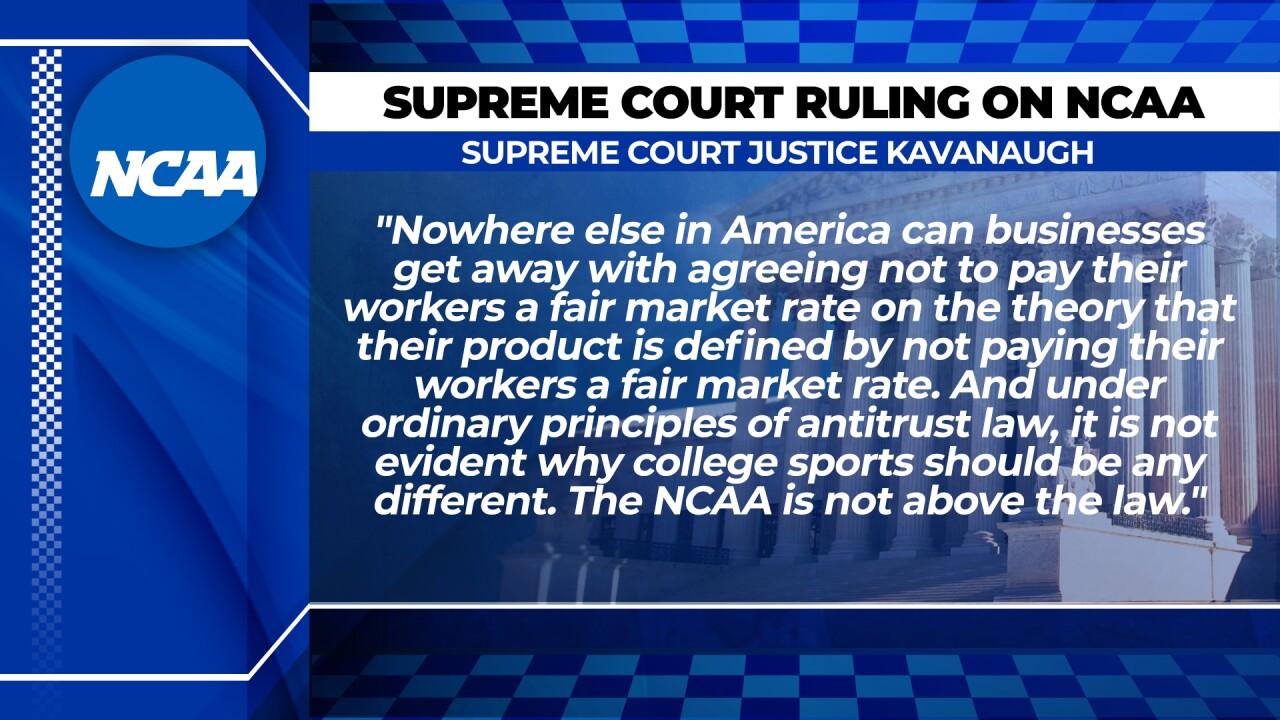 Kavanaugh concurring opinion NCAA