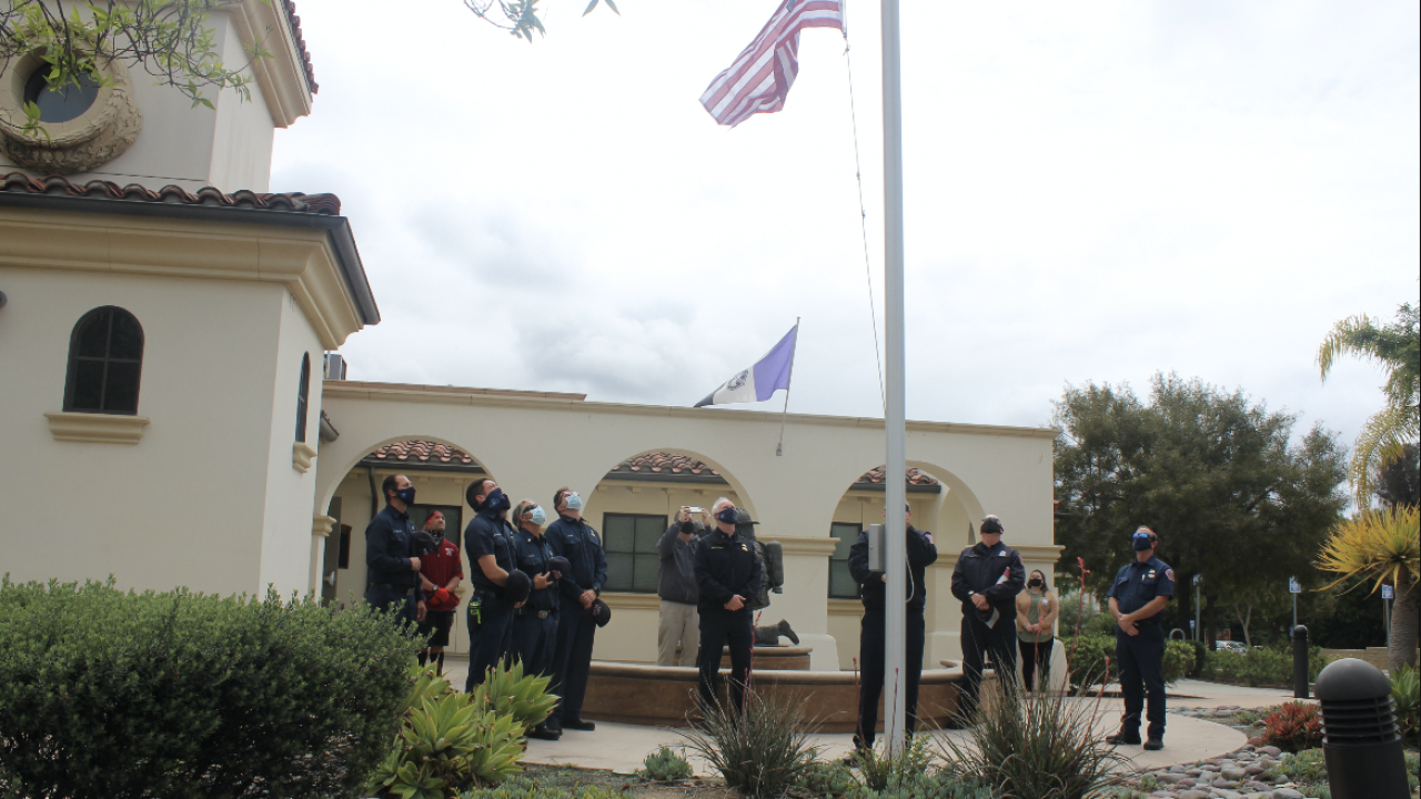 Vista city flags lowered to half-staff for firefighter who died of cancer