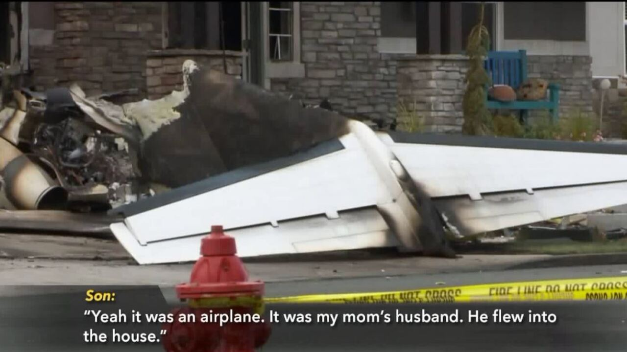 911 calls released of Payson man flying airplane into his home