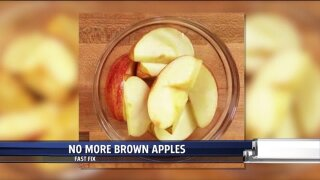 Stop apples from turning brown