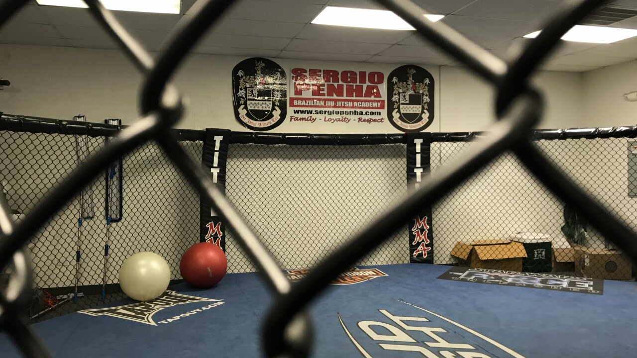 Sergio Penha Brazilian Jiu-Jitsu Academy welcomes all ages and is located in Chinatown in Las Vegas as seen March 2021