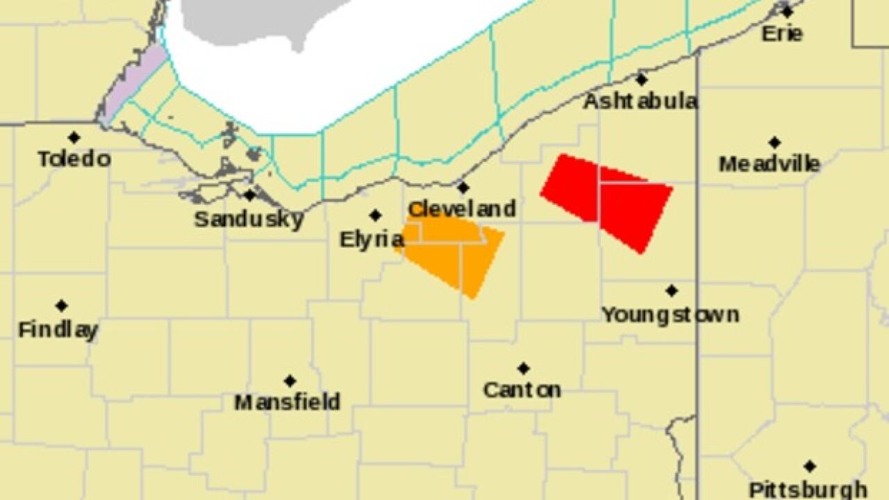 Severe Thunderstorm warning issues across NEO