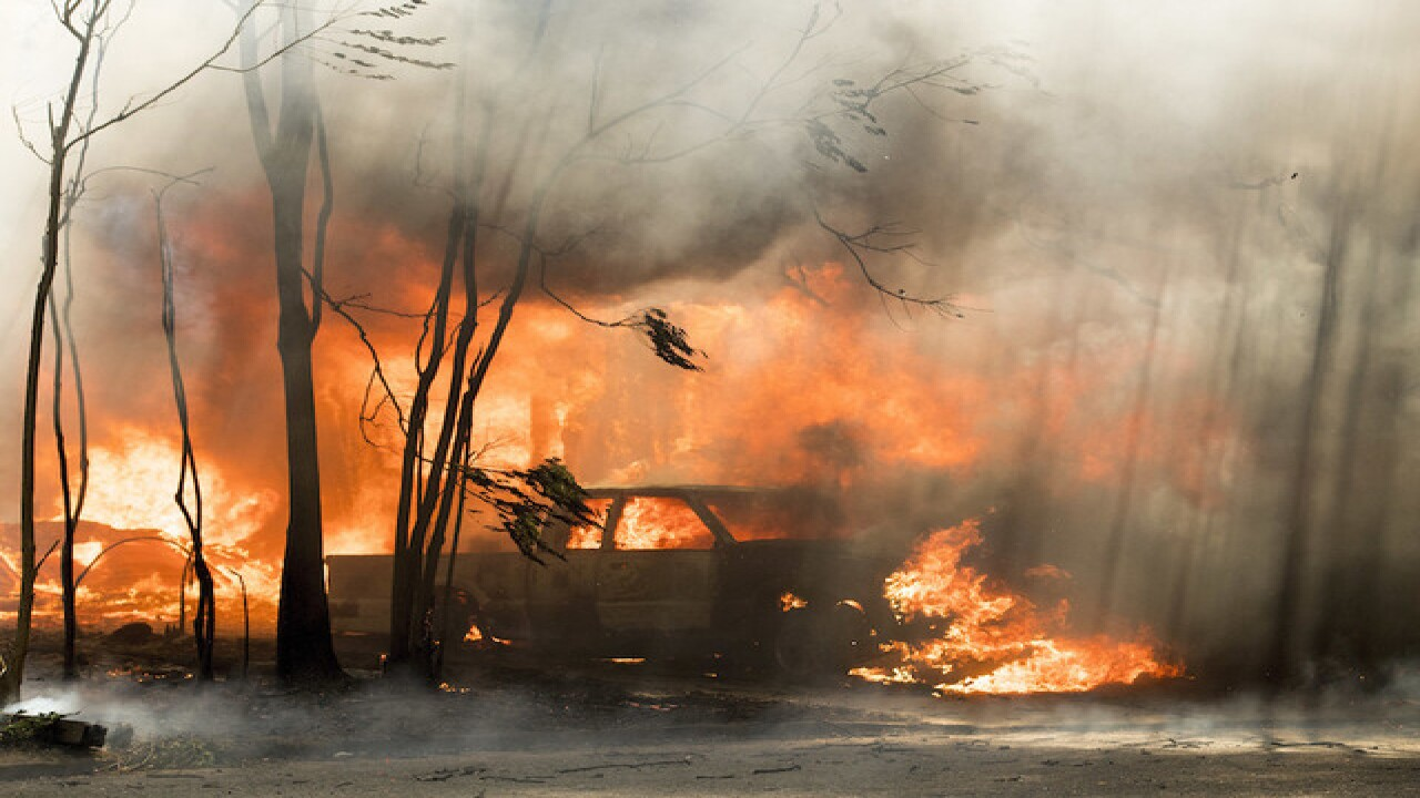 More than 100 homes destroyed in Calif. wildfire