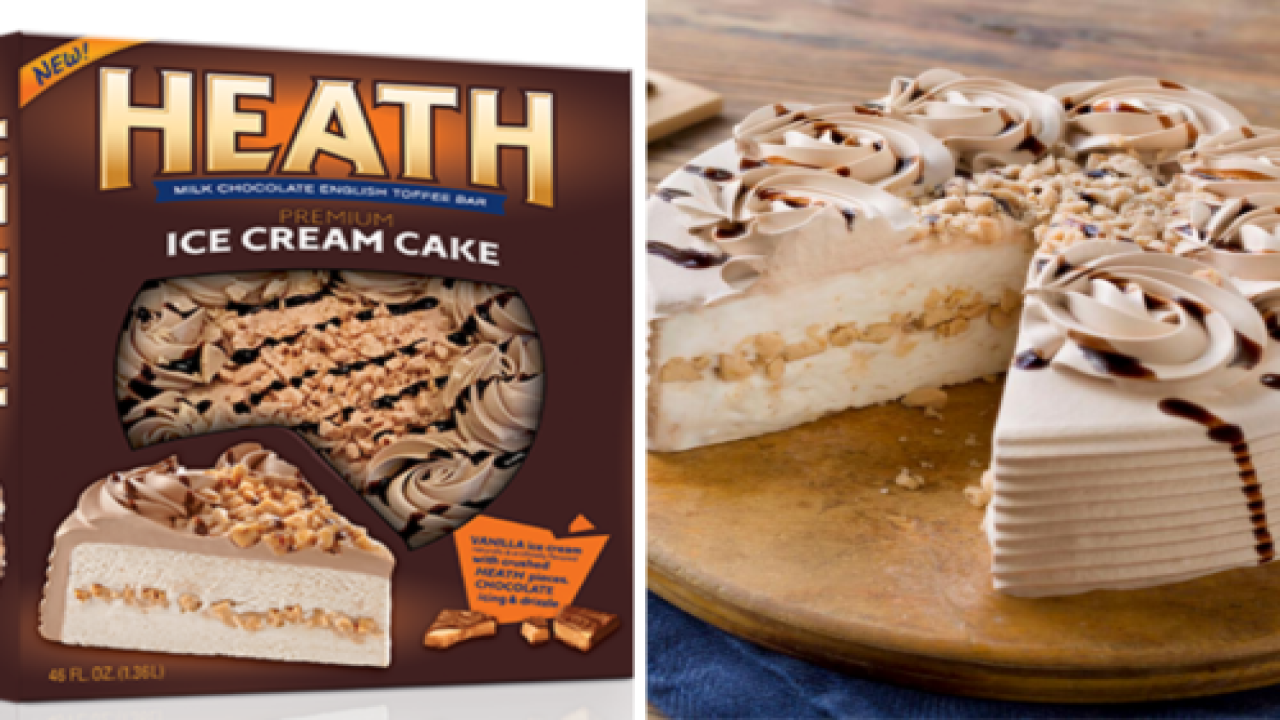 This Giant Heath Ice Cream Cake Serves 9 People