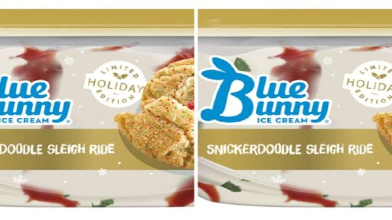 Blue Bunny's Snickerdoodle Sleigh Ride Ice Cream Will Get You In The Holiday Spirit