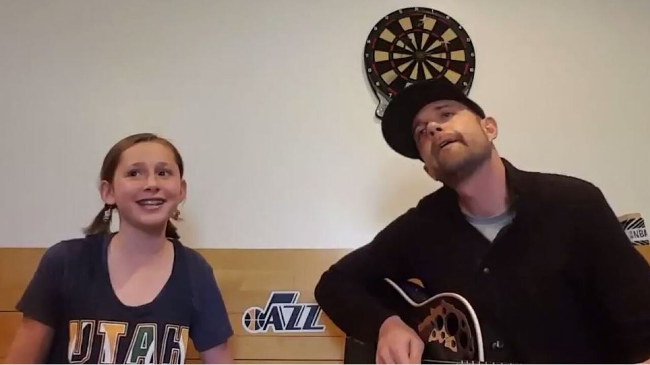 Father-daughter duet transforms 'Hallelujah' into ode to Utah Jazz