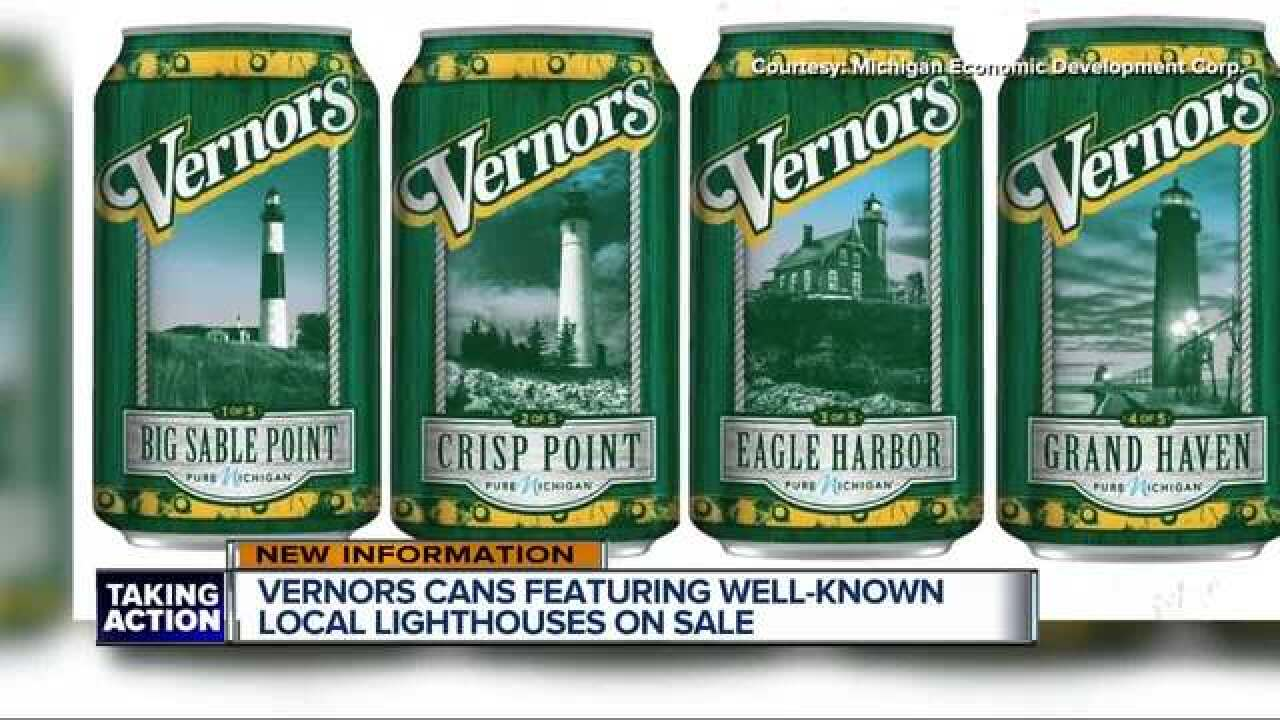 Vernors releases limited-edition cans featuring Michigan lighthouses