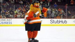 Hockey mascot Gritty being investigated for assaulting teen
