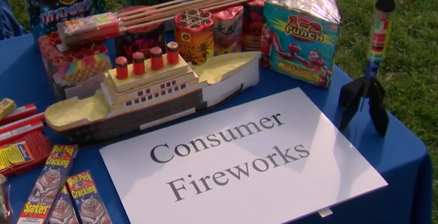 Fireworks danger!  They're illegal in San Diego County