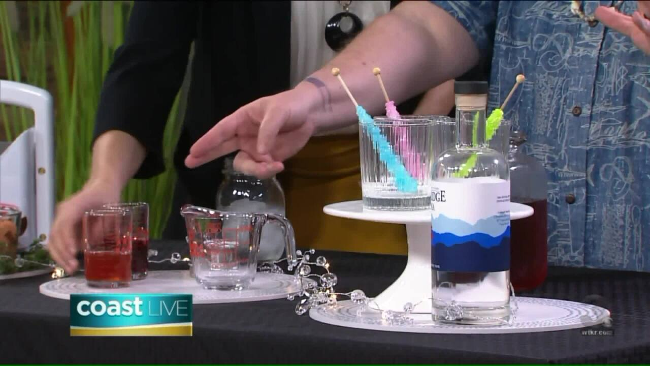 Making sweet cocktails with Chef Patrick on CoastLive