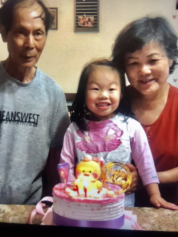 Angelina Liu with her grandparents