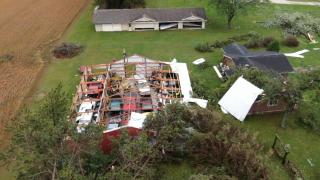 Wisconsin tornado damage
