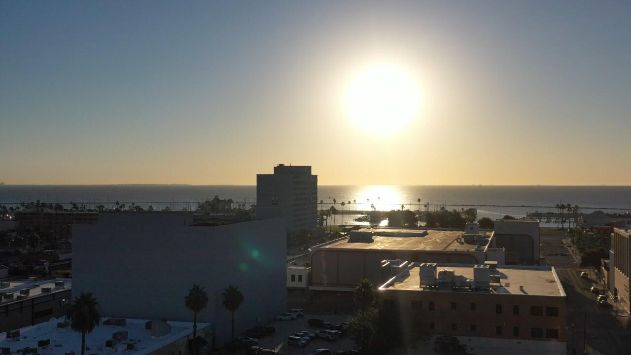 Sunshine over Corpus Christi Bay