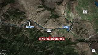 Wildfire burning 250-to-300 acres near Dixon