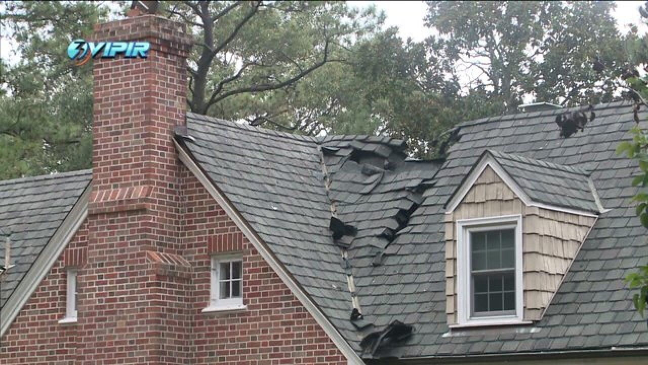 Lightning blamed for fire in Beach home's chimney chase
