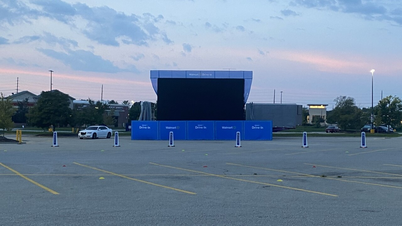 Walmart In Olathe Hosts Drive In Theater As Movie Theaters Start To Open